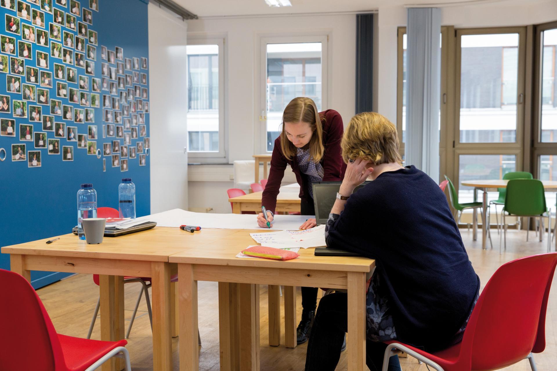 Mitarbeiterinnen im Berliner Büro