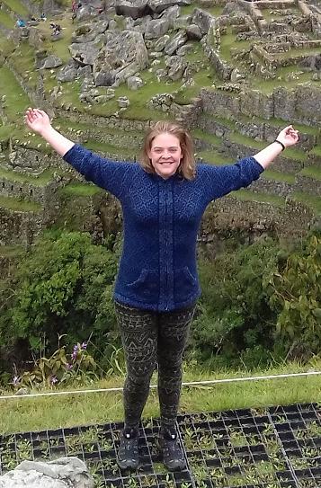 Fellow Marlene vor dem Machu Picchu